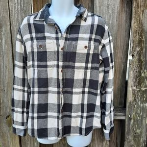 Old Navy The Boyfriend Flannel Shacket Plaid